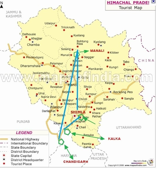 How To Reach Manali Shimla To Manali Distance - Map route distance