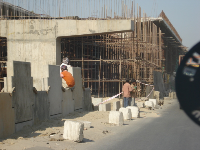 Construction between Panipat and Ambala on NH 1