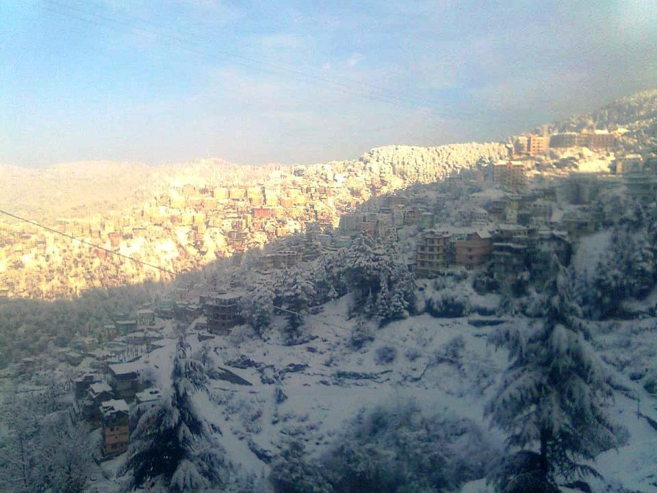 snowfall in shimla 2012