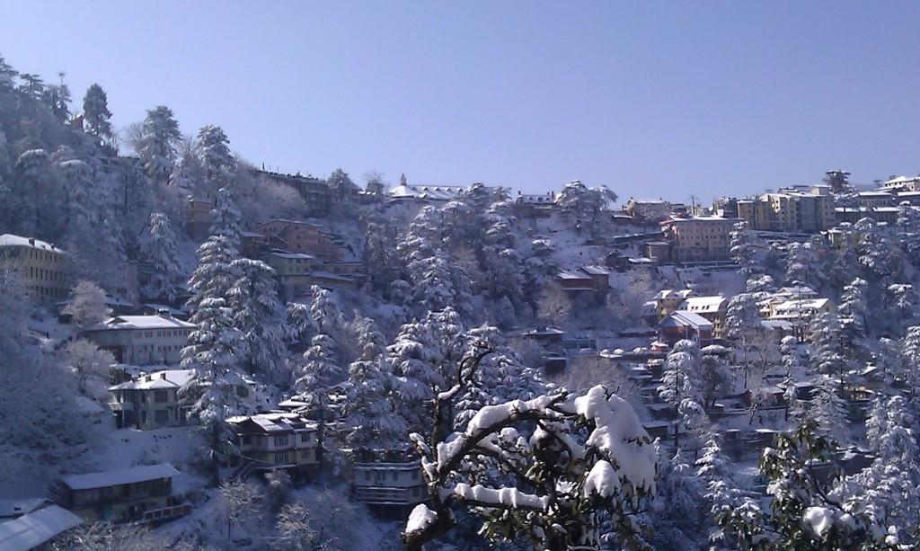 snowfall shimla 2012