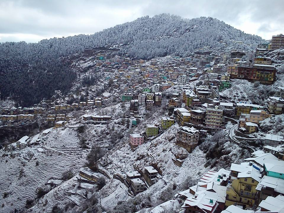Snowfall Shimla 2014